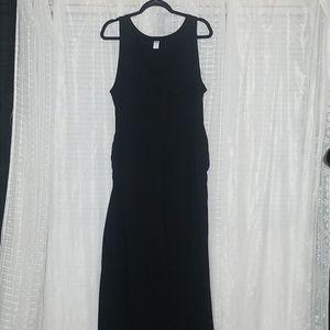 Black Old Navy Maternity Sleeveless MaxiDress SzXL